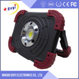 COB portátil Conducción de voltaje 3V LED de emergencia recargable 5W Luz