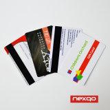 Carnet de socio plástico caliente del asunto del PVC de la impresión en offset del color de la venta cuatro con la laminación