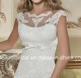 Bateau-Spitze-Hochzeits-KleidSequins V-Back Brautkleid W15240