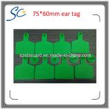 markering van het Oor van het Vee van de Kleur van 75*60mm de Geeloranje Rode Groene Plastic