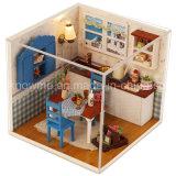 가구와 중국 작은 사랑스러운 나무 장난감 DIY 인형의 집