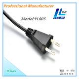 cable eléctrico redondo de los contactos de 2.5A 250V 2 con el VDE, el OEM aprobado de Kema-Keur, de Ove, de Cebec etc