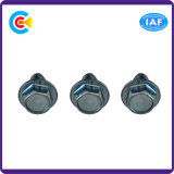 Acero de carbón 4.4/8.8/10.9 tornillos galvanizados pista Hex de la Uno mismo-Perforación de la arandela de Unslotted
