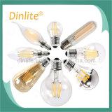 2 bulbo decorativo do filamento do diodo emissor de luz do filamento ST64 2W