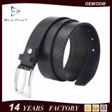 Kundenspezifisches Firmenzeichen-Metallfaltenbildung-Mann-klassisches Leder-umsponnene Riemen