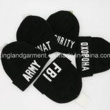 Chapeau tricoté acrylique chaud de broderie de Fbi de noir d'armée