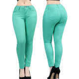 Pantalon maigre de Chino de coton de mode de pantalon de dames en gros