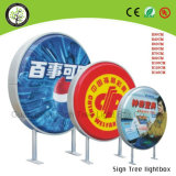 Outdoor Round Pet Store Display Acrylique LED Publicité Light Box