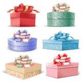Geschenk-verpackenkasten, runder Kasten, Inneres geformter Kasten mit Soem-Zoll und auf Lager