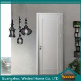 Porte en bois solide intérieure panneau américain blanc moulé/affleurant moderne (WDM-050)