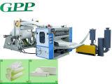 Cadena de producción automática de alta velocidad del tejido facial que hace la máquina