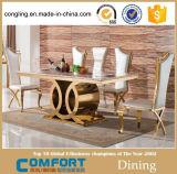 Mesa de jantar de mármore superior moderna com armário de madeira (A8054)