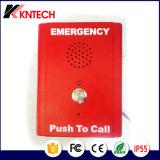 Intercomunicador resistente del teléfono Knzd-13 de la piscina de la ayuda de la punta del teléfono del vándalo sin manos Emergency del teléfono