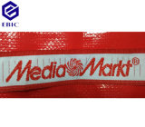 Überzogene pp. gesponnene nichtgewebte Einkaufstasche mit Stickerei-Griff