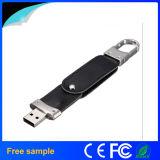Carte mémoire Memory Stick libre du cuir USB2.0 d'impression de logo de gravure avec le trousseau de clés