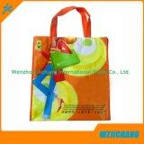 Bolso de compras no tejido reciclado de la maneta