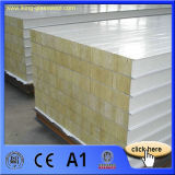 El panel de emparedado a prueba de humedad de Rockwool de los materiales de material para techos