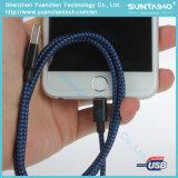 para el nuevo cable trenzado de nylon del cargador del relámpago del USB iPhone5/6/7