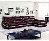 Sofá de couro da mobília 1+2+3 Home modernos Best-Selling (UL-NSC185)