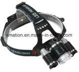 Lumière tarifée rechargeable de tête de chasse du CREE DEL de l'aluminium 1000lm 10W