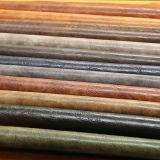 Cuero artificial de la PU del diseño clásico de 12 colores para el bolso de mano del zapato con la buena sensación del tacto (E6083)