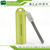 Chargeur portatif en cuir de téléphone du bracelet 2600mAh de sports en plein air