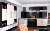 Armadio da cucina UV della cucina di Ritz lucentezza moderna domestica della mobilia di alta