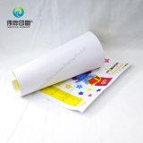 La impresión de papel embroma la etiqueta engomada de la altura (de la historieta)