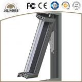 Ventana colgada superior de aluminio modificada para requisitos particulares fabricación de la buena calidad