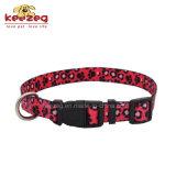 Collares de nylon del gato del perro de la impresión de la transferencia del nuevo estilo (KC0094)