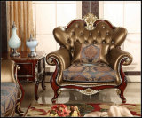 Silla del sofá de la sala de estar del marco de madera del sofá del hogar de la tela de la manera (UL-NS235)