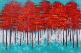 Peinture à l'huile abstraite d'arbre de reproduction