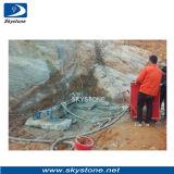 Skystone abaixo da máquina da broca do furo para a pedreira do granito