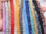 Le cristal neuf de tube de chaîne de Rhinestone de 2017 Strass perle la bande nuptiale de garniture d'Applique de garniture (TT-001)