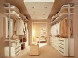 Wit pvc Wooden Built in Wardrobes
