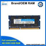 Het Geheugen 8chips DDR3 1600 8GB van de Garantie 1024MB*8 van het leven voor Laptop