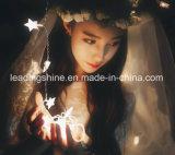 星形の4mは20のLEDの暖かく白いストリング熱いホーム庭の妖精ランプをつける