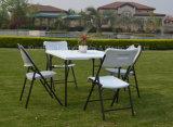 옥외 정연한 접의자 반에 의하여 접히는 정원 백색