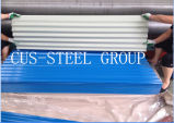 Placas de telhado Prepainted do metal/folha de aço revestida telhadura da cor