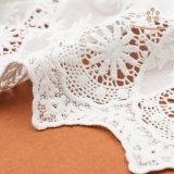 H10013 het Bruids Kant van het Ivoor voor de Kleding van het Huwelijk