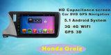 Honda Greiz Bluetooth/WiFi/TV를 가진 10.1inch 접촉 스크린을%s 인조 인간 시스템 차 DVD 플레이어 GPS 항법을%s