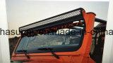 Barre d'éclairage LED de 50 pouces pour la bride supérieure de pare-brise de jeep de Tj/Lj