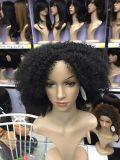 Цвета черноты плотности париков 180% фронта шнурка париков волокна верхнего качества парики волос курчавого синтетического теплостойкNp синтетические