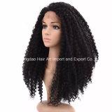 Parrucca piena riccia del merletto dei capelli umani di Remy di alta qualità