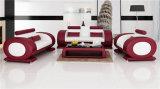 Populäre moderne ledernes Sofa der Art-1+2+3 für Wohnzimmer, Weiß (HC6024)