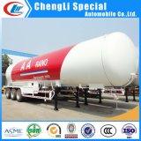 スキッドの詰物の使用のための半60000liters三車軸プロパンLPGのガスの輸送のタンカーのトレーラー30tons