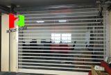 Vertikaler Polycarbonat Transparement Spiegel-Kristallfalz rollen oben Rollen-Blendenverschluss-Tür (Hz-FC046)