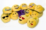 Deslizadores de encargo encantadores de la felpa de Emoji