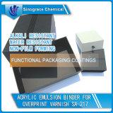 Carpeta de acrílico resistente detergente de la emulsión para el barniz de la impresión sobrepuesta