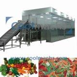 Tiefkühlverfahren-Maschine des Eibisch-IQF/Gemüse verflüssigte IQF Gefriermaschine
